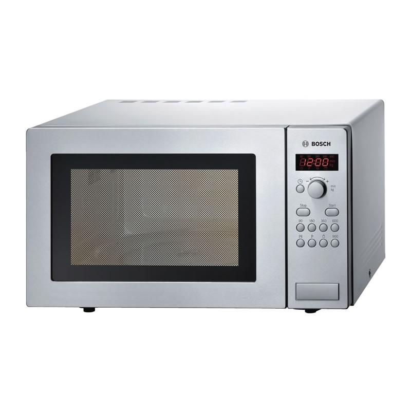 bosch 900w brushed steel microwave oven