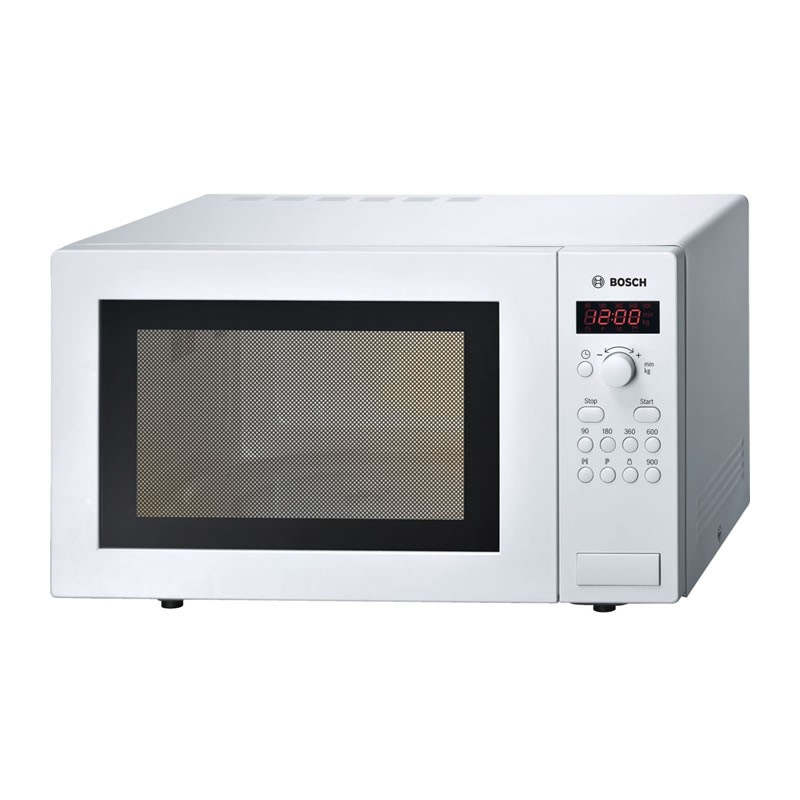 bosch 900w white microwave oven. Black Bedroom Furniture Sets. Home Design Ideas