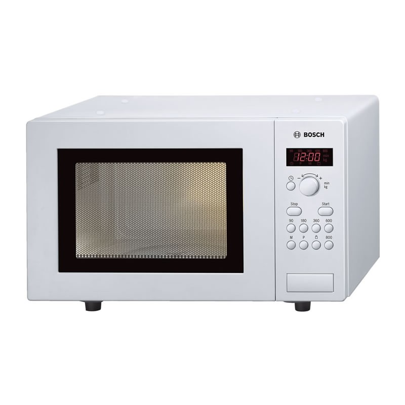 White Microwave Ovens: Bosch 800W Compact White Microwave Oven