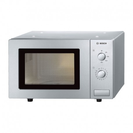 Bosch 800W Compact Brushed Steel Microwave Oven