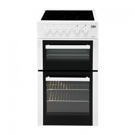 BEKO Freestanding 50cm Double Oven Electric Cooker