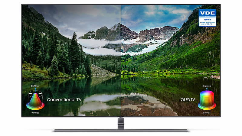 Samsung 2018 49'' Q6F QLED Ultra HD certified HDR 1000 Smart 4K TV Colour